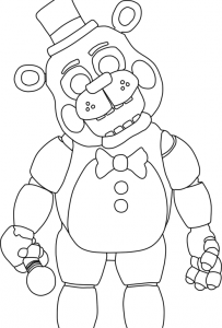 desenhos do jogo five nights at freddy s para colorir birthday