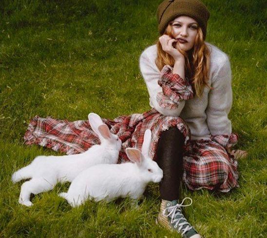 #wool #plaid #rabbits #redhair