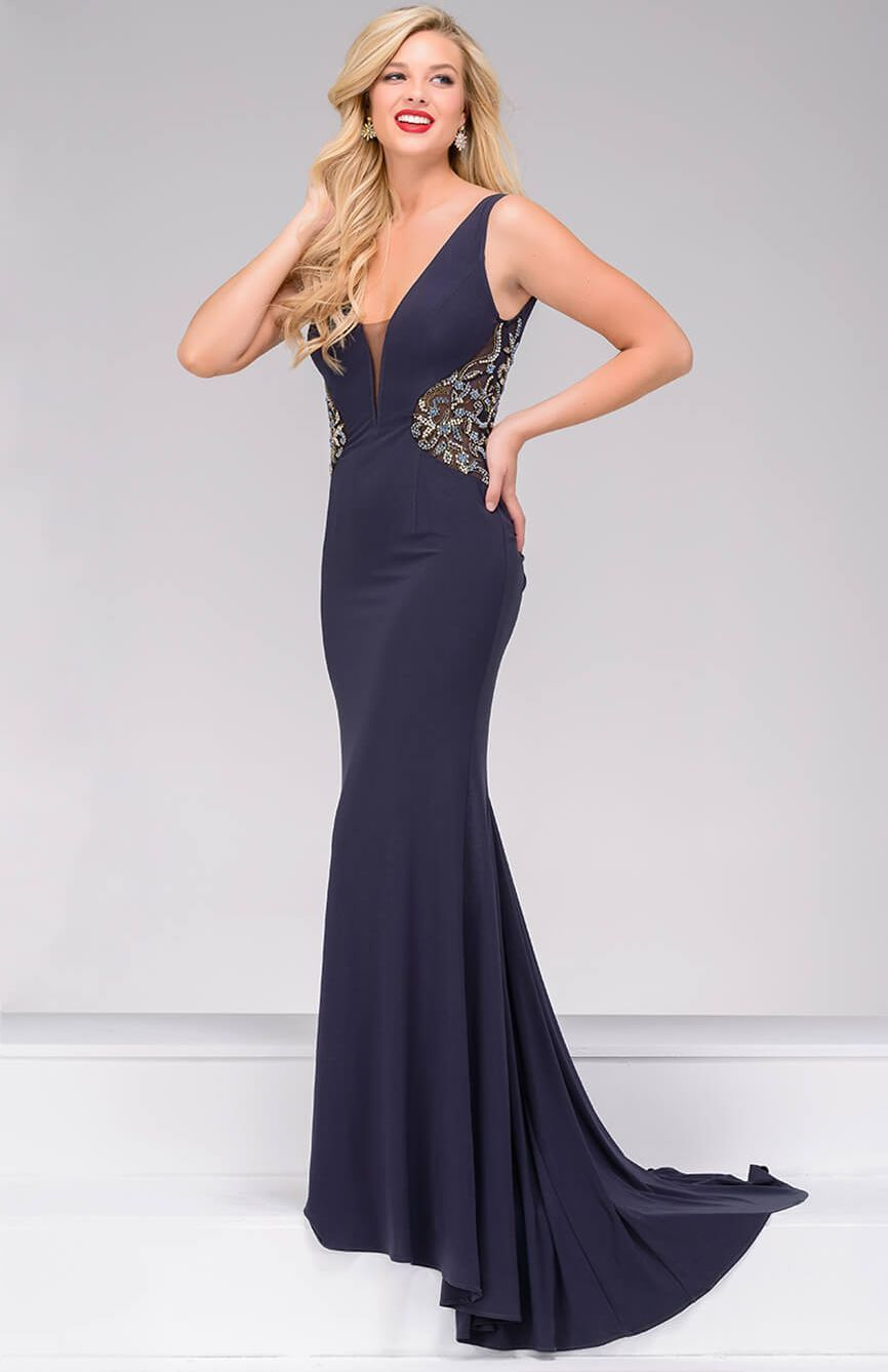Jovani prom neckline and gowns