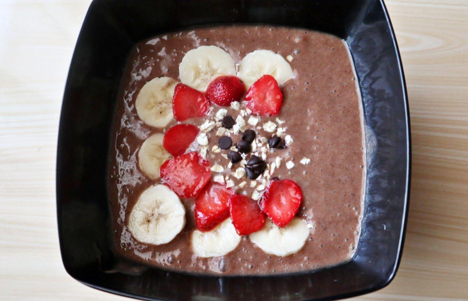 Simply N Delicious Choco Banana Smoothie Bowl Resep Smoothie Selai Coklat Pisang