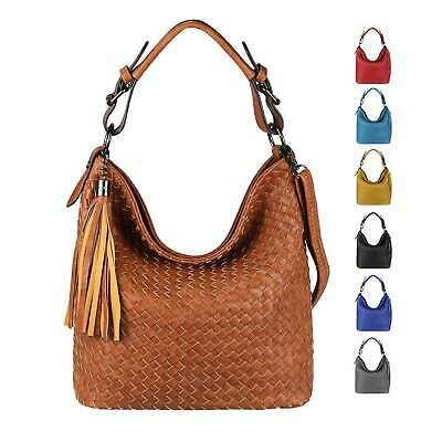 Photo of WOMEN'S BAG Hobo-Bag Shopper Leather Look Shoulder Bag Shoulder Bag: …