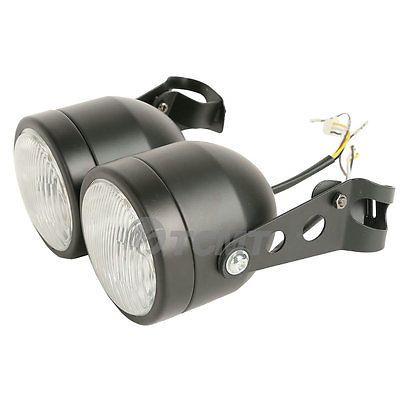 Motorbike Headlight & Brackets for Streetfighter Custom