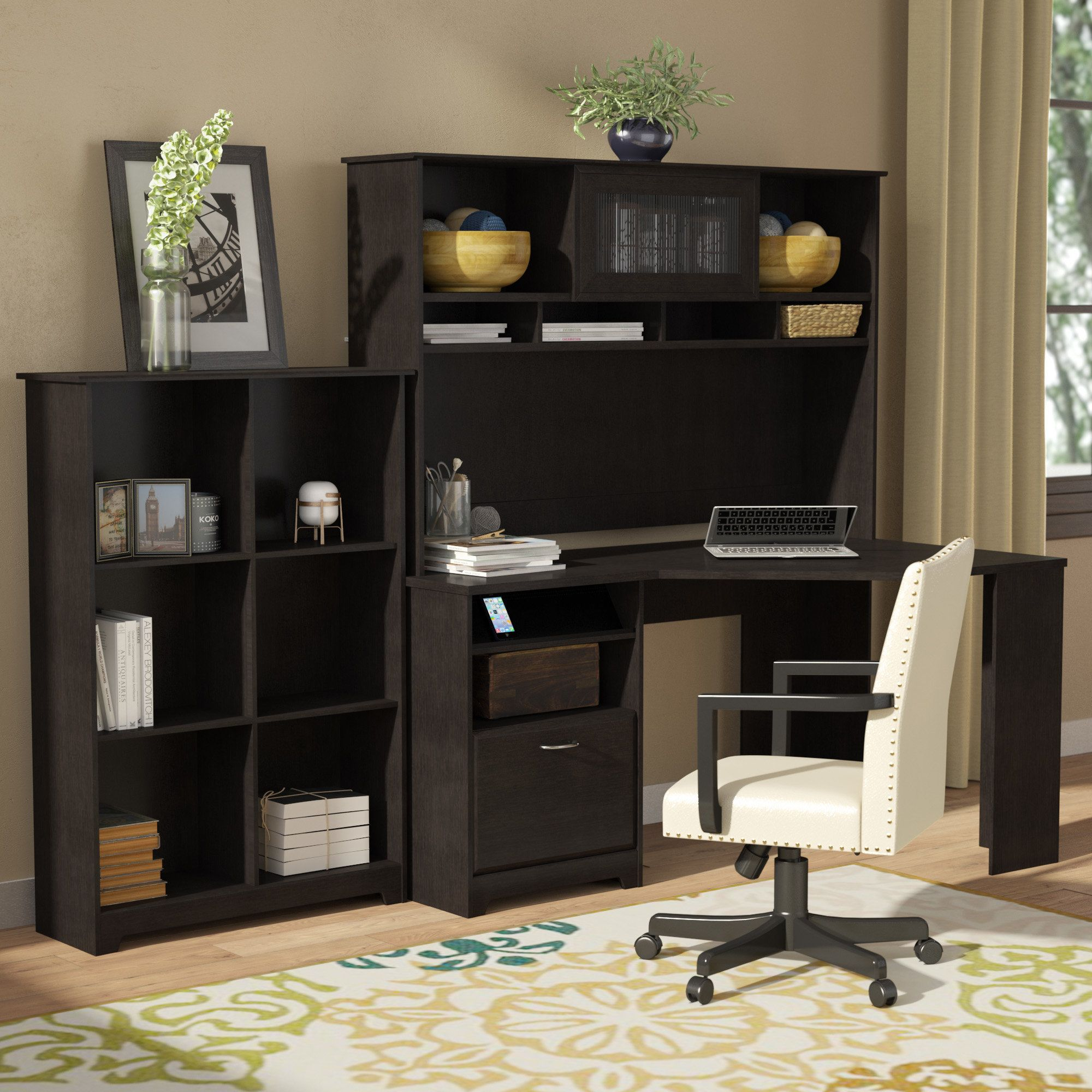 Hillsdale corner desk with hutch and bookcase products pinterest