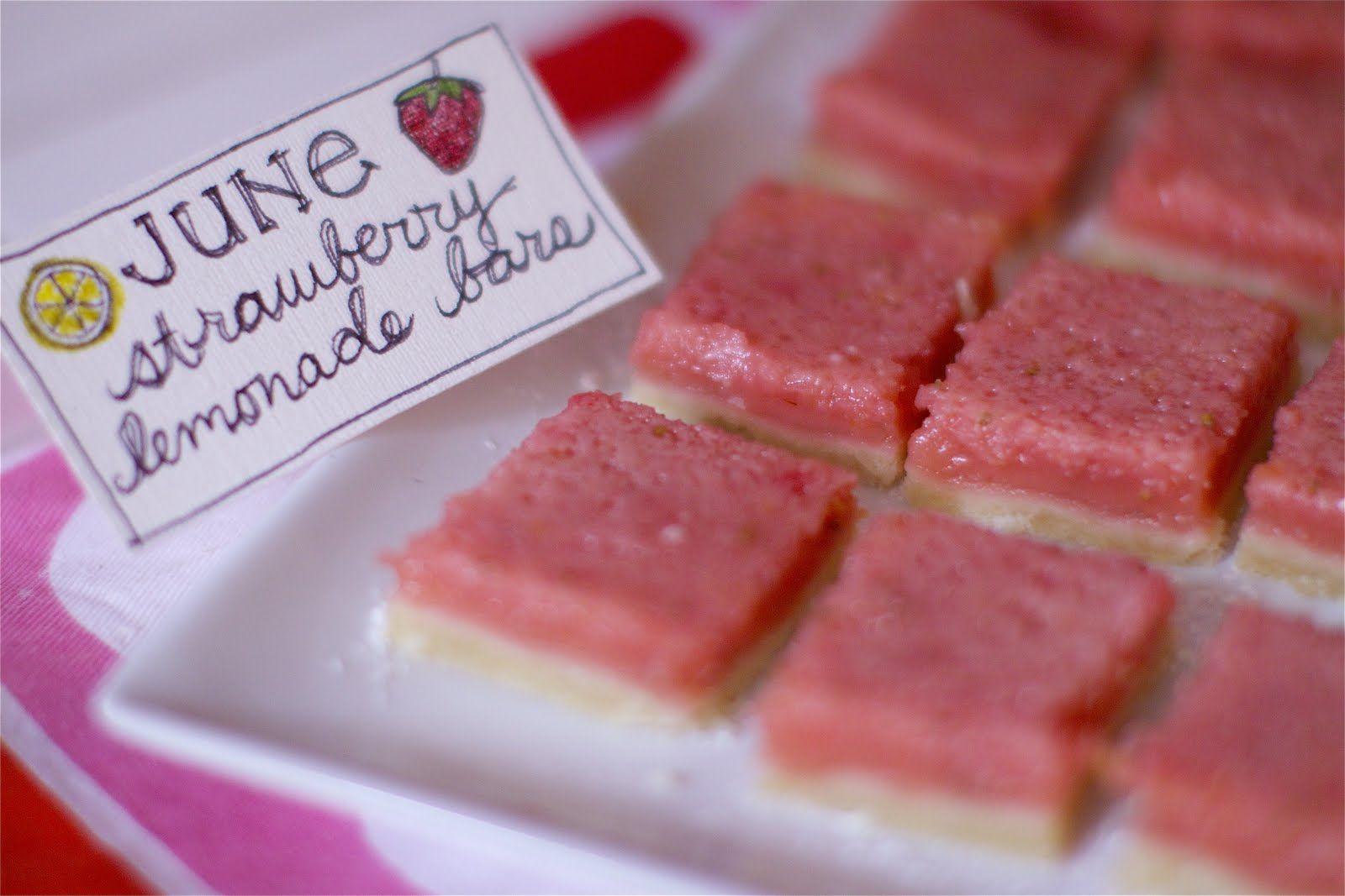 Strawberry Lemonade Bars | The Baker Chick