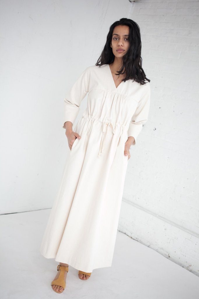 Caron Callahan Ari Dress in Japanese Cotton Canvas   Oroboro Store   Brooklyn, New York