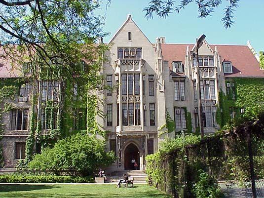 University Chicago Campus Winter