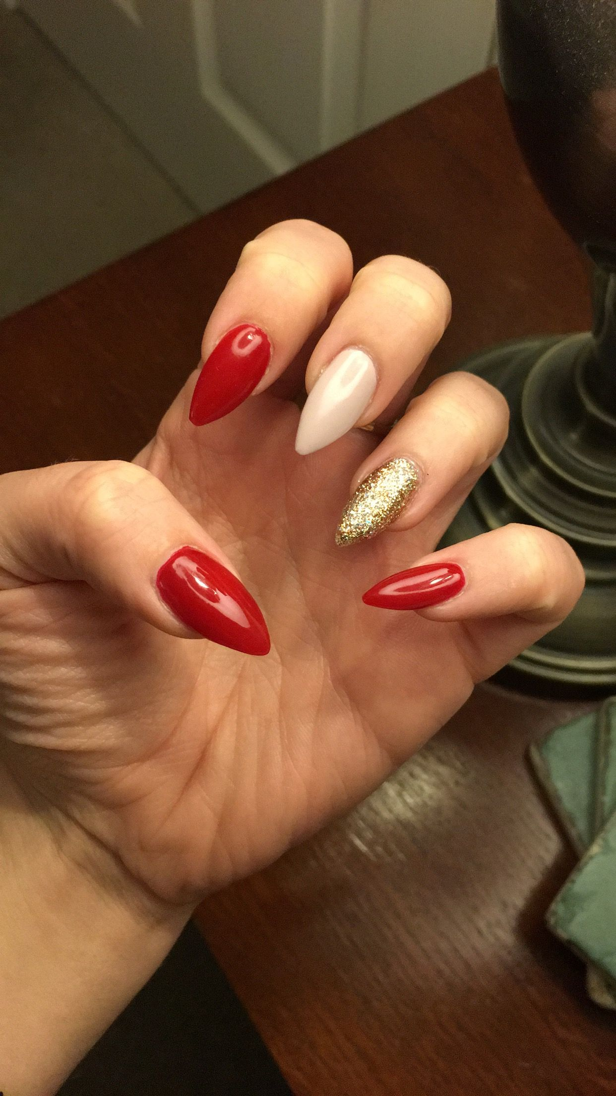 Red, gold and nude nails ❤ | Military ball | Pinterest | Nude nails ...