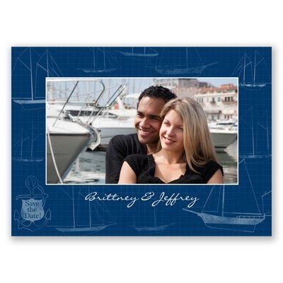 Nautical Sailboats - Save the Date Photo Postcard