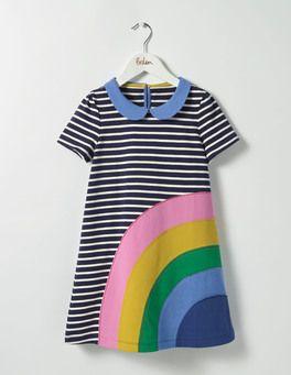 Fun Applique Jersey Dress Boden Style Little Girl