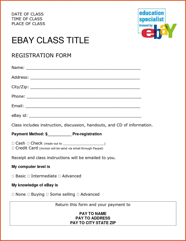 Course Enrolment Form Template Registration Form Event