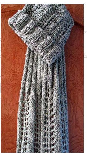 Lace Hat And Scarf Free Knitting Pattern At Piece By Piece Net 6mm