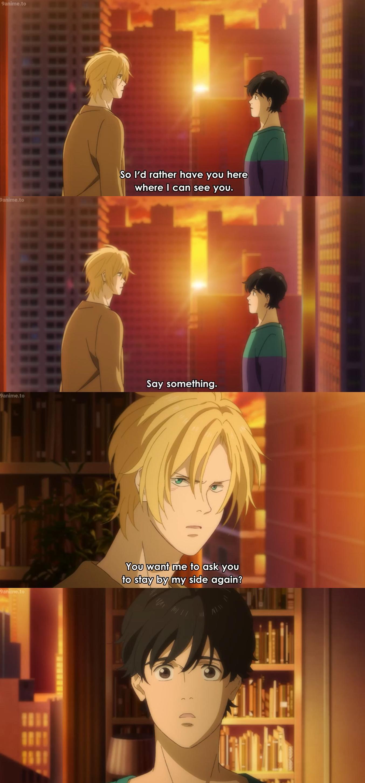 Say It Again Ash X Eiji Part 1 Banana Fish Episode 17 Fish Banana Anime Love