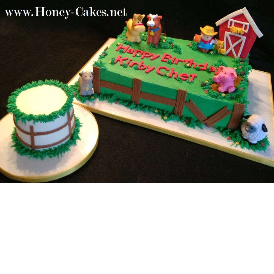 First Birthday Farm Theme Cake I Like Ths Smash Cake With Images