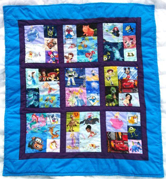 Disney ISpy Baby Quilt by TwoGigglyGirls on Etsy, $80.00 - I'm ... : disney quilting fabric - Adamdwight.com
