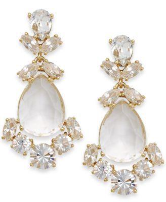 Kate Spade New York Crystal Chandelier Earrings Macys