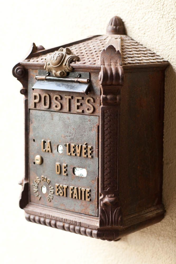 Amazing antique French mailbox 1st dibs find Accents