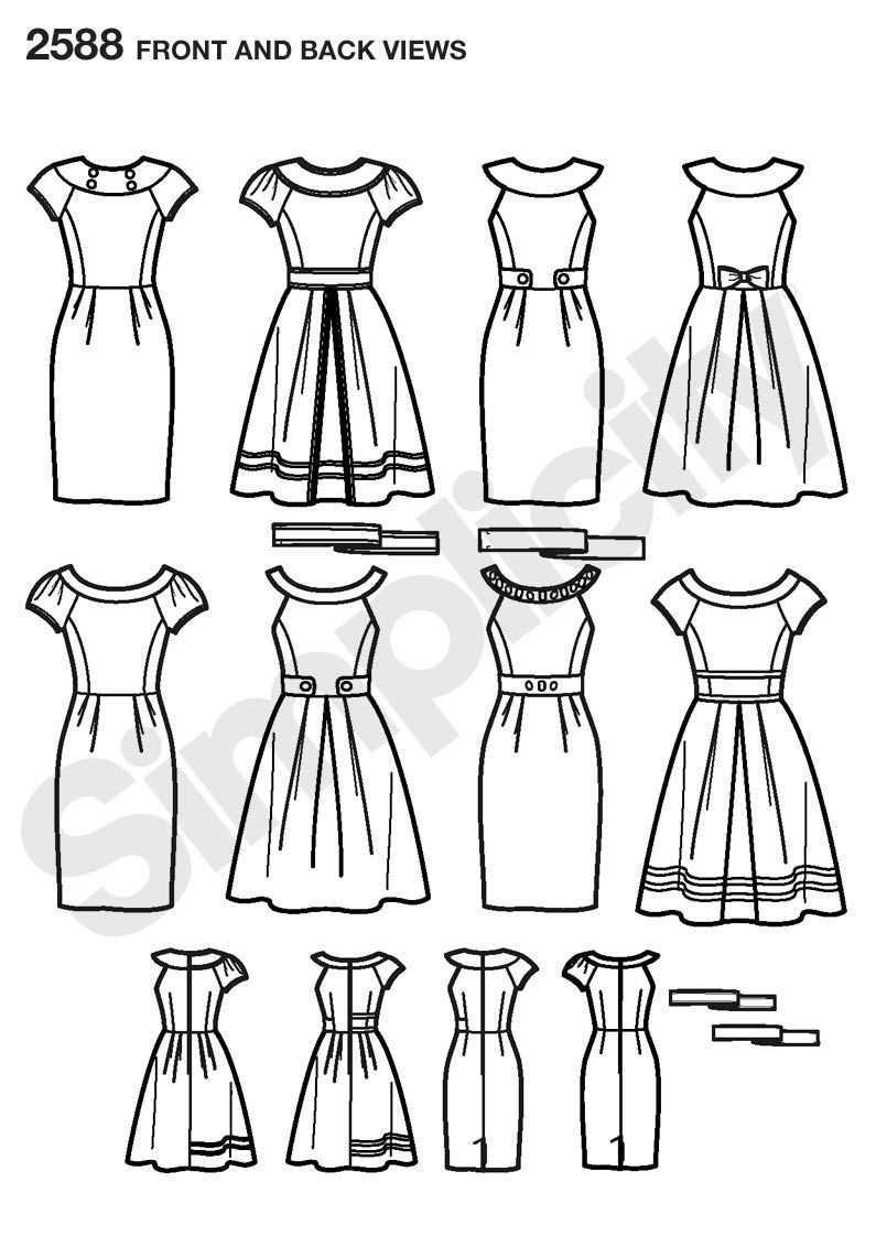 Womens and Miss Petite Project Runway pattern 2588 Simplicity ...
