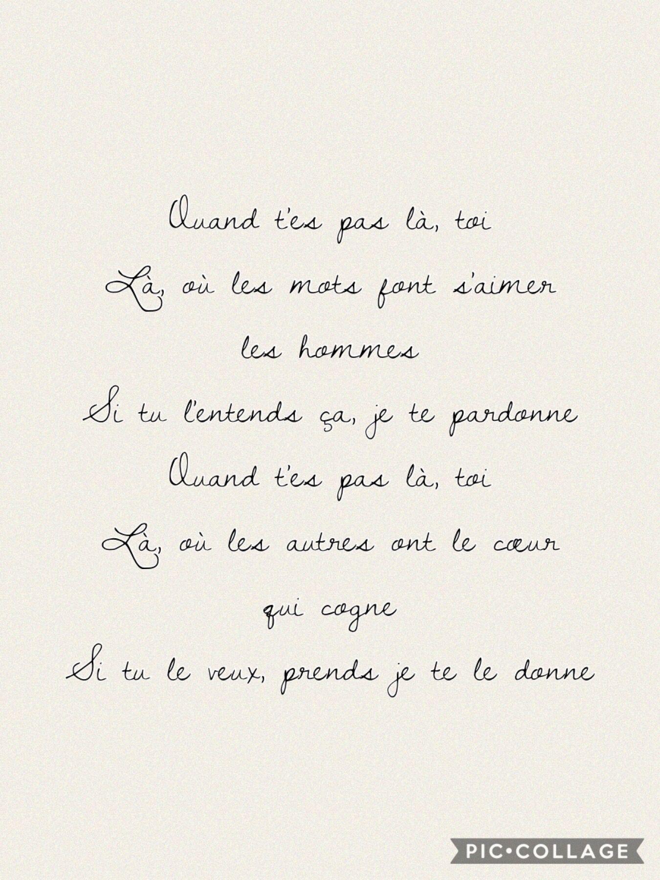 Parole Je Te Le Donne : parole, donne, Slimane, Vitaa, ®️©️, Donne, Paroles, Chansons,, Citation,, Parole