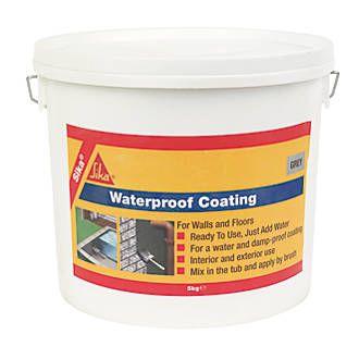 Sika Waterproof Coating Grey 5kg Damp Proofing Waterproof Coat Sika Waterproofing