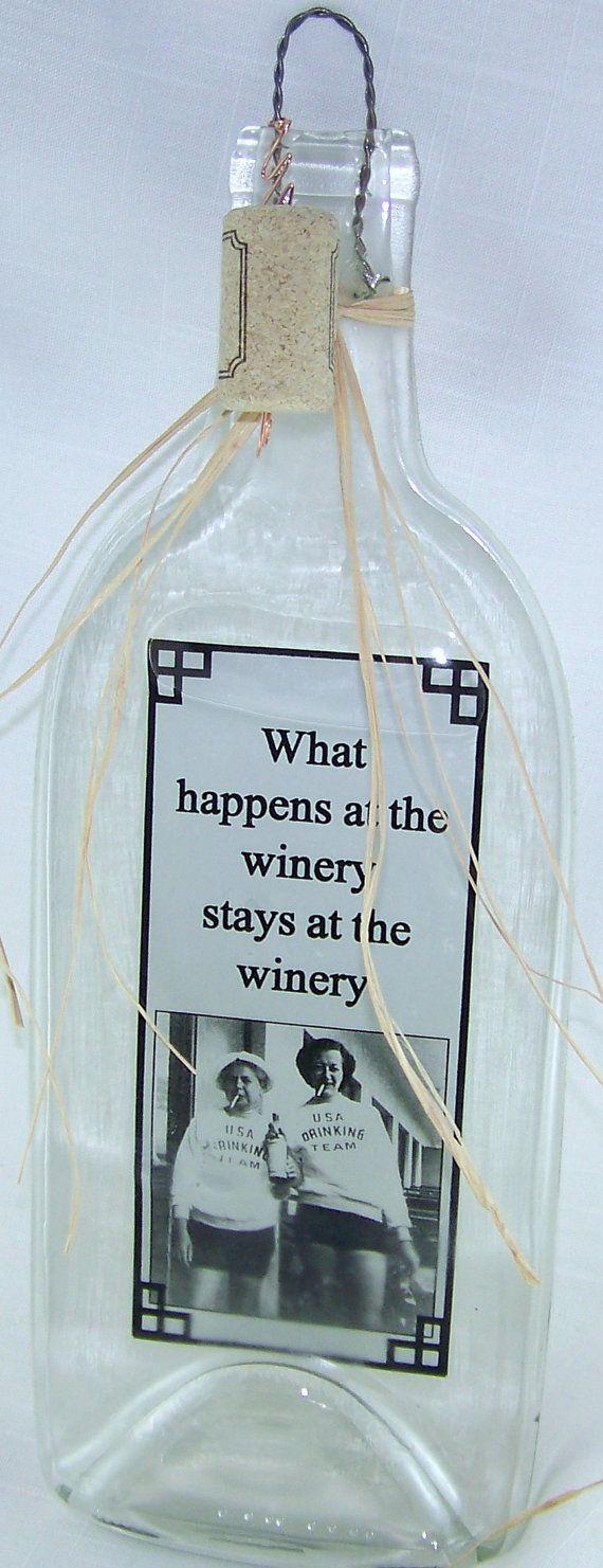 Melted Wine Bottle/Funny Wine Sayings/Wine Decoration/Wine Kitchen ...