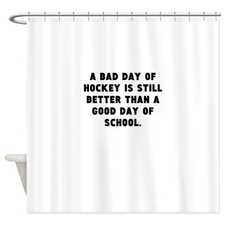 A Bad Day Of Hockey Shower Curtain By Kevin Cafepress In 2020