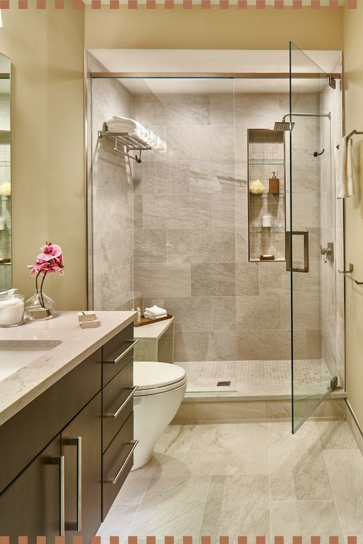 A Great Warm Tan Bathroom Idea These Neutral Bathroom Colors Are Perfect For My Master Bathroom R Modern Small Bathrooms Modern Bathroom Small Bathroom Decor
