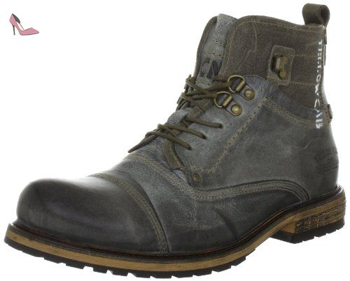 bottes rangers homme yellow cab soldier