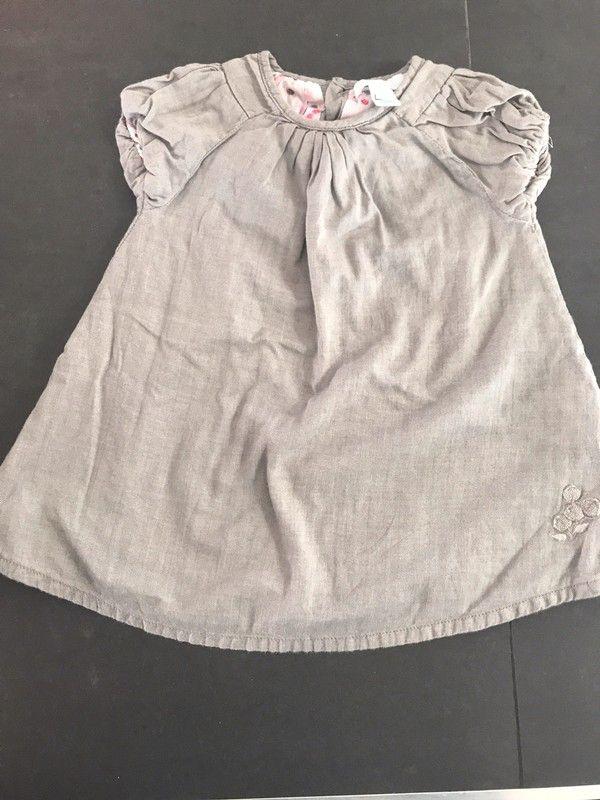 45f103f340cb6 Robe hiver Obaibi 6 mois gris taupe de marque okaïdi. Taille 6 mois à 2.50