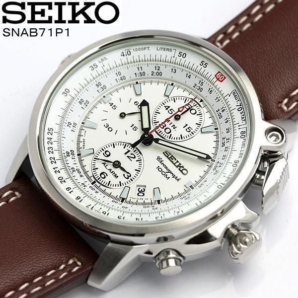 Seiko Flightmaster Crono SNAB71P1 Orologio Uomo Superior 100m