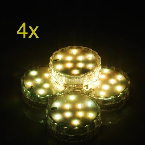 Weanas® 4x Submersible Lights Candles Multi Color RGB 10 LED with Remote Control Replaceable Battery Underwater Waterproof Lamp for Christmas Birthday Wedding Party with Battery http://www.amazon.com/dp/B00J22N44G/ref=cm_sw_r_pi_dp_81nxub0GPDG72