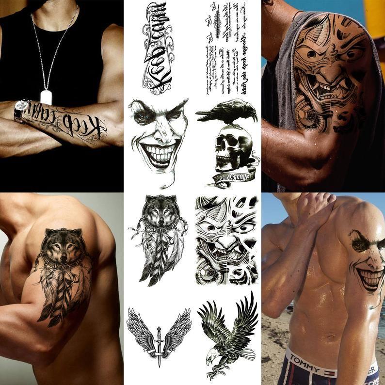 realistic fake face tattoos