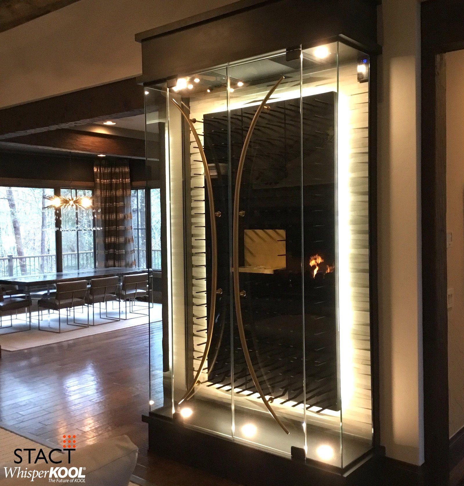 This Gorgeous Modern Glass Wine Cellar Designed By Ingelein Smith