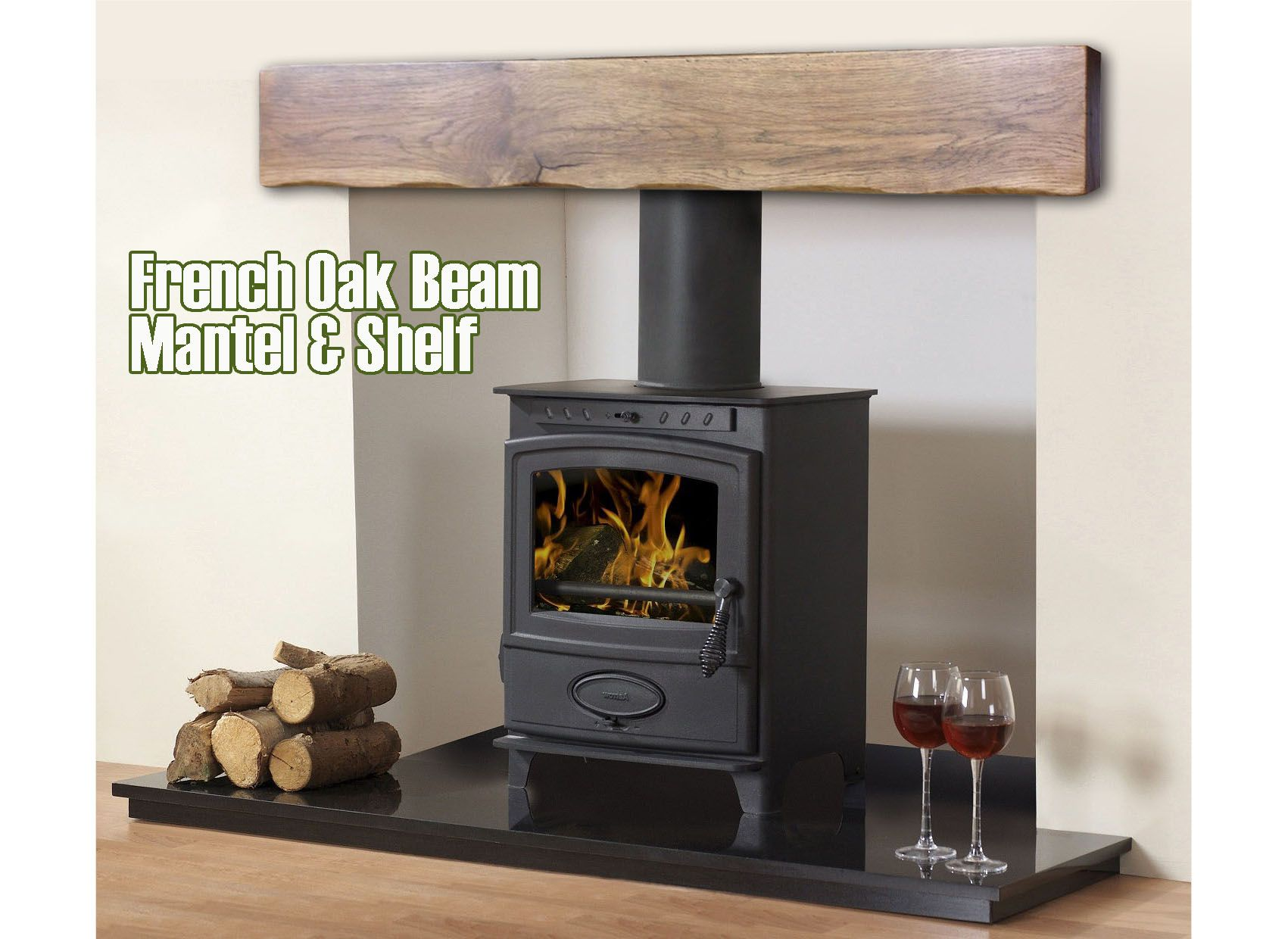 Solid Oak floating Shelf & Beam Mantel Manufacturer with made to ...