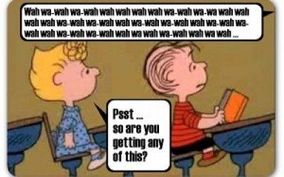 Blah Blah Blah Love To Laugh Charlie Brown Teacher English