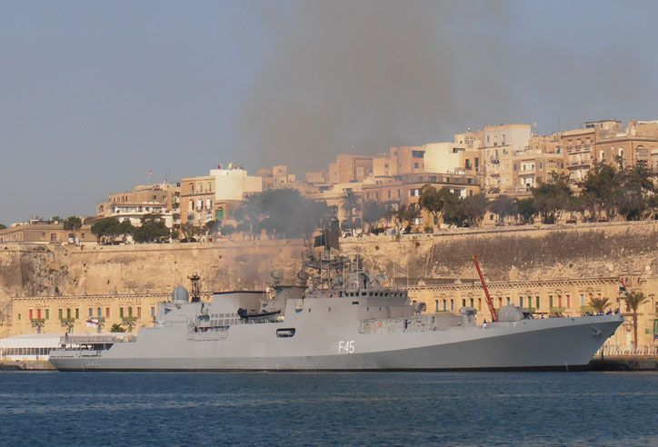 Ins Teg Talwar Class Stealth Frigate Of The Indian Navy Indian Navy Destroyer Ship Navy Ships