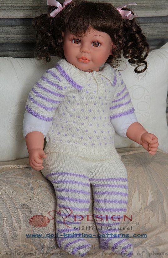 Strikkeoppskrifter dukkeklær | baby born dukke