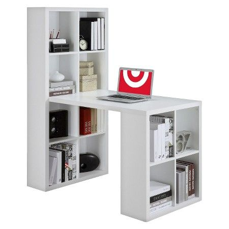 Ameriwood Computer Desk With Shelves White