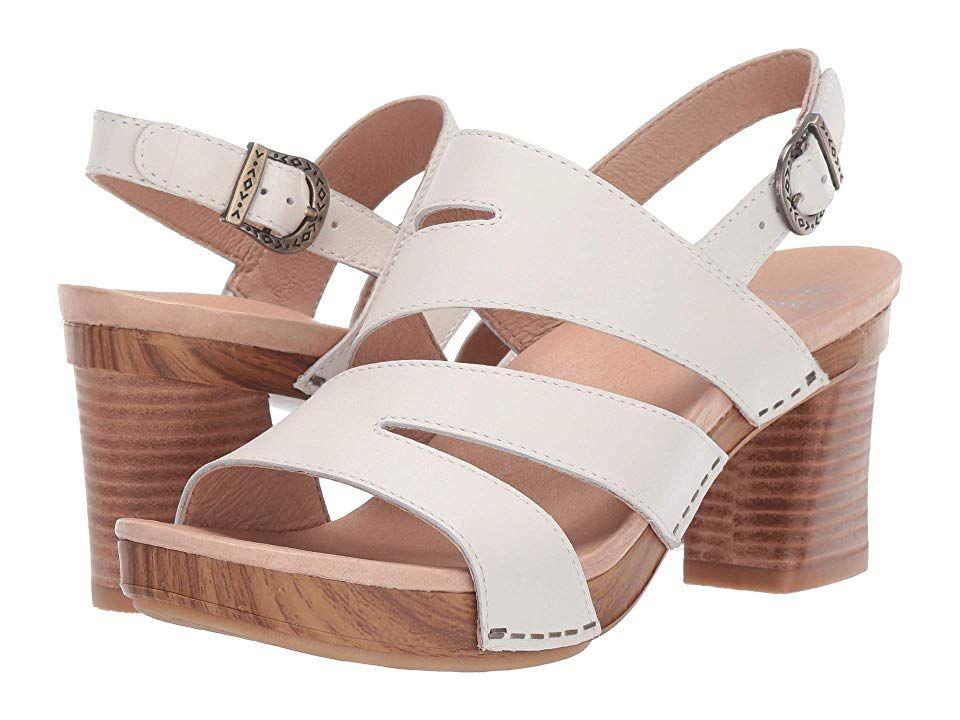 Dansko Ashlee Women S Dress Sandals Ivory Full Grain