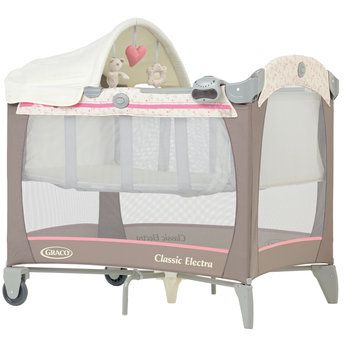 Graco Classic Electra Bassinet Travel Cot In Posie