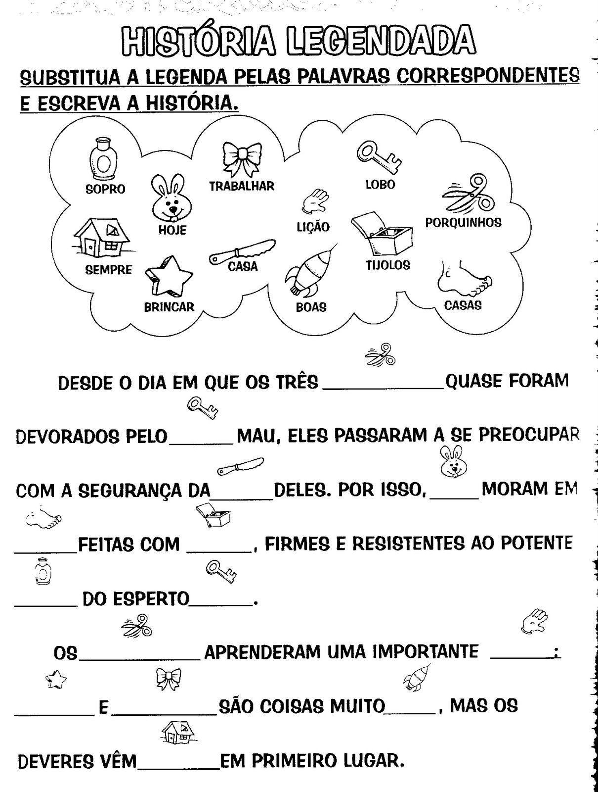 Populares Educar é arte !!: ATIVIDADES PARA PRODUÇÃO DE TEXTO | EDUCAÇÃO  FS79