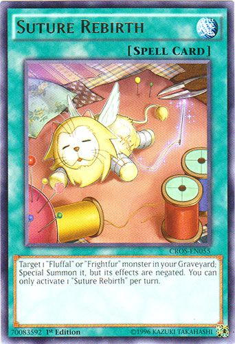 CROS-EN068-1st EDITION FLUFFAL CRANE YU-GI-OH CARD
