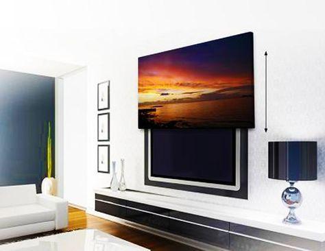 20 Attractive Home Decorating Ideas to Hide Living Room TV - wohnzimmer fernseher deko