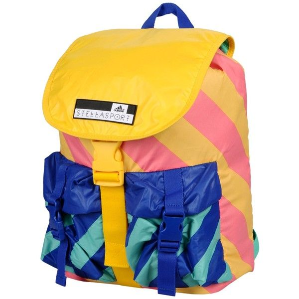 Adidas Stella Sport Backpacks & Fanny Packs (11.735 ISK) ❤ liked on Polyvore featuring bags, yellow, yellow fanny pack, logo bags, day pack backpack, colorful backpacks and waist pack bag