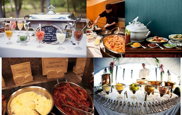 Southern comfort the grits bar wedding foods stations or for Food bar trends