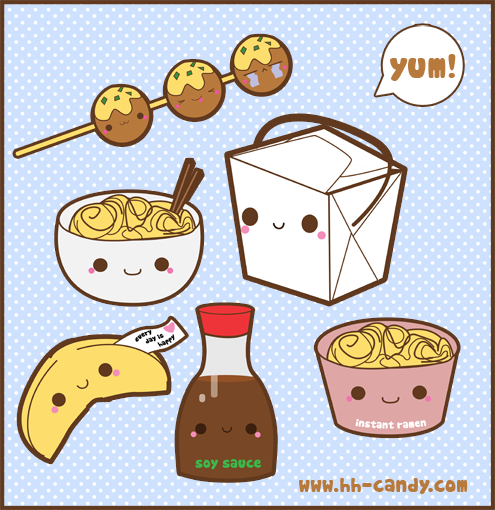 Kawaii Chinese Food Takeout - too cute, and makes me hungry at the same time... source: http://a-little-kitty.deviantart.com/