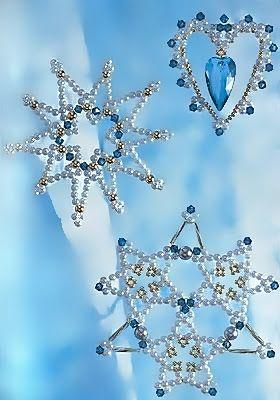 Pattern bijoux: Snowflakes