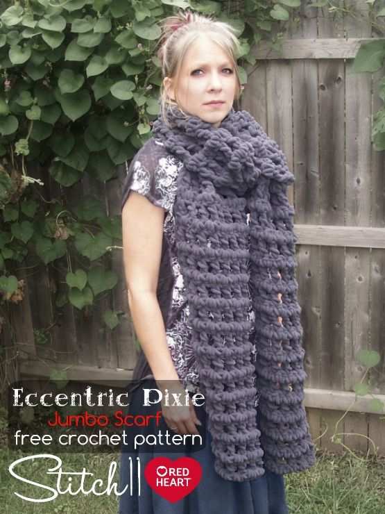 Eccentric Pixie Jumbo Scarf Free Crochet Pattern by Stitch11 for the ...