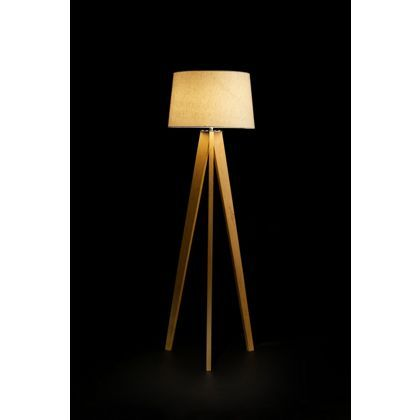 Kitty tripod wood floor lamp £59 99 homebase