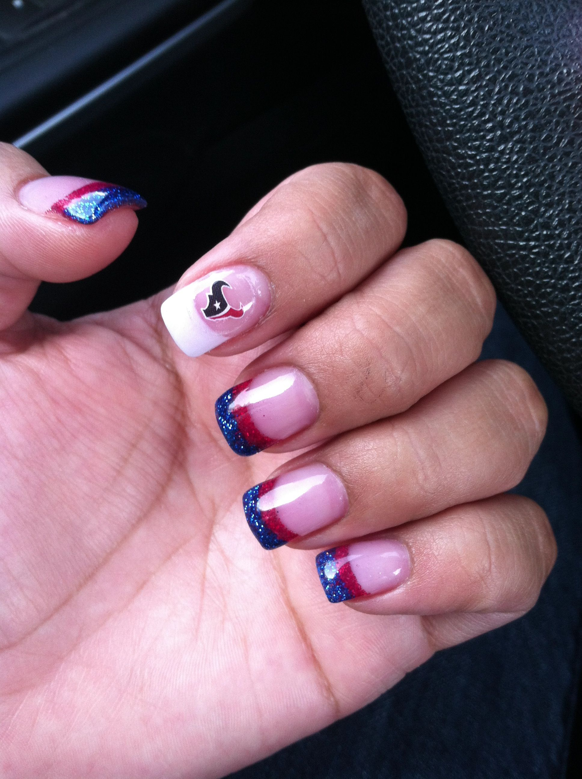 Houston Texans Nails by Too Q Nails & Spa #texans #nails #fb | Nail ...