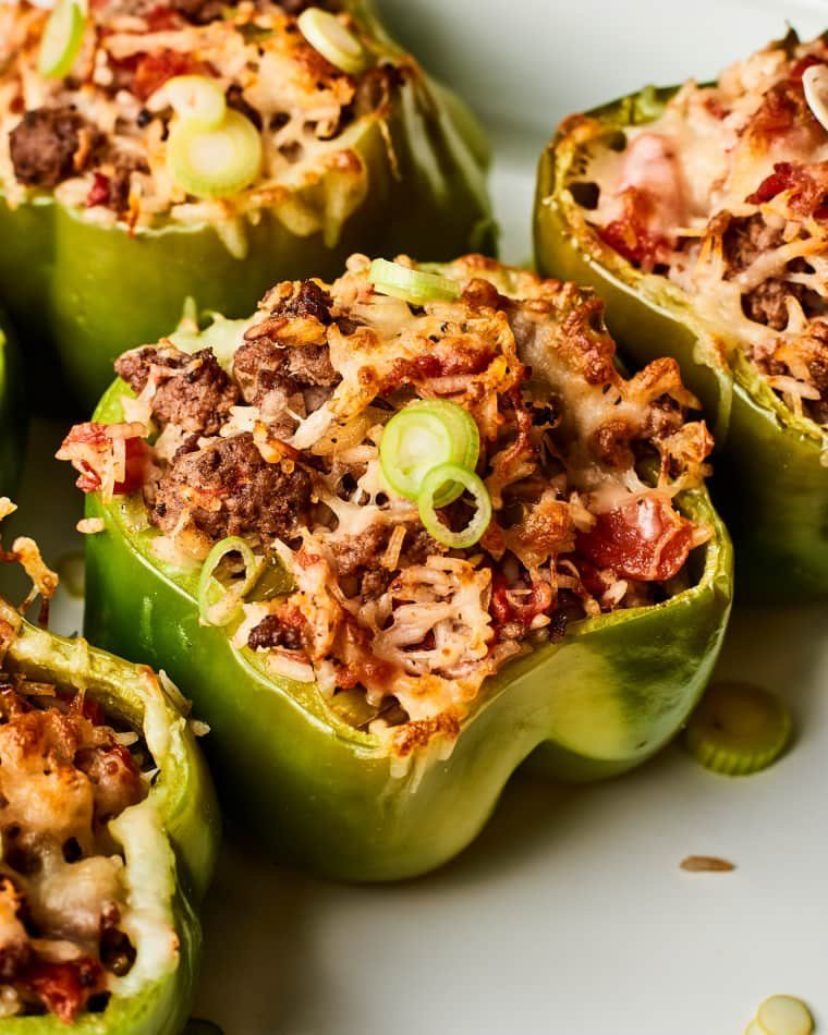 Stuffed Peppers Are An Easy Weeknight Win Recipe Stuffed Peppers Stuffed Bell Peppers Baked Dishes